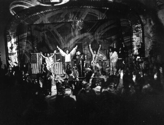 MC5 performas at the Grande Ballroom in 1968.