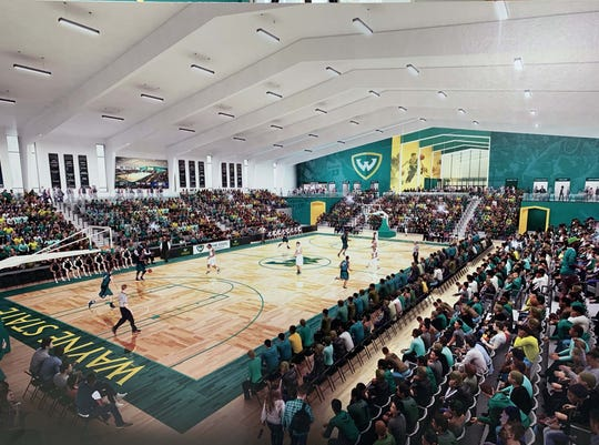 A rendering of the new Wayne State University gymnasium.