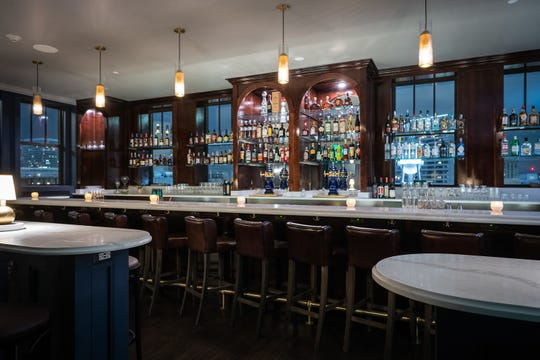 The look of the bar area was crafted by Patrick Thompson Design. Mike Eisenberg is the bar manager and chef Jared Bobkin oversees the kitchen.
