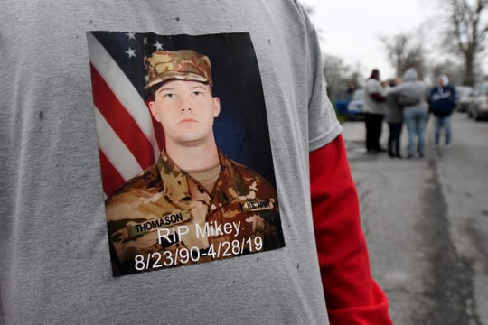 "Friends and family of Pfc. Michael A. Thomason of Lincoln Park say he planned military career long ago, saying he had been involved in ROTC in high school. ""He was a hero to all of us,"" said Tiffany Wahl."