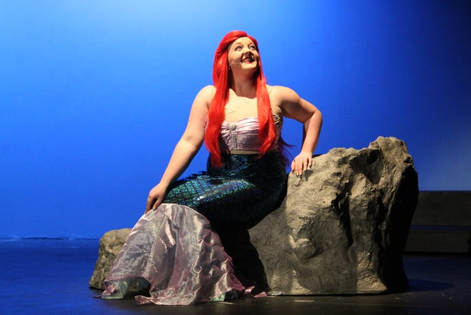 """Leslie Childers plays Ariel in the Fremont Community Theatre's upcoming production of Disney's """"The Little Mermaid."""" The FCT production starts Friday and runs for nine performances."""