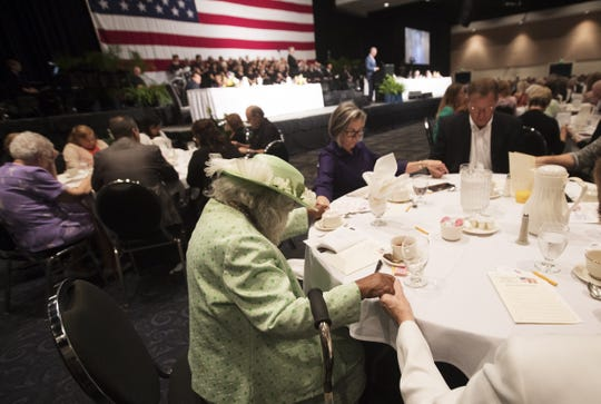 Community members take part in the 2017 Community Prayer Breakfast at Harborside Event Center in Fort Myers. Community members take part in the 2017 Community Prayer Breakfast at Harborside Event Center in Fort Myers.