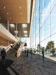 The glass on the proposed Mulva Cultural Center would provide visitors with an outside experience year-round,