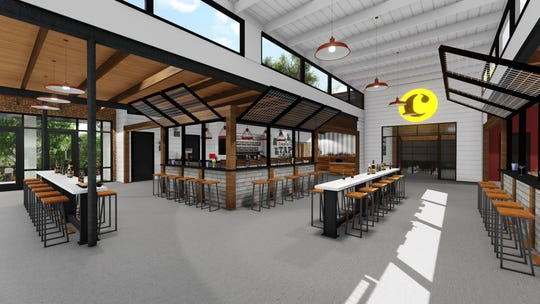 The Commons will include a public gathering space that will also connect to each of the five food and beverage tenants.