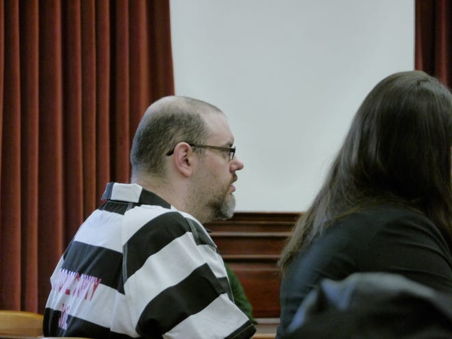 Joseph Allan Counts awaits a decision from Judge Greg Pinski Wednesday, May 1, 2019.