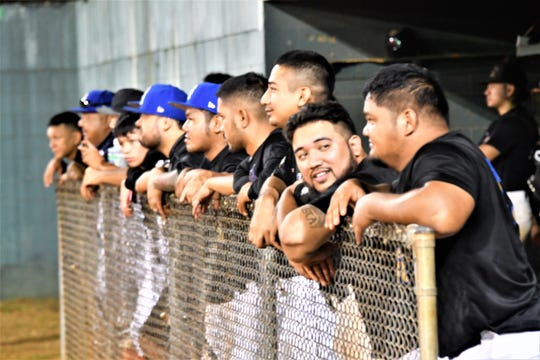 The Guam Major League leading Crowns Royals during a game against the Yona Redhawks April 30 at Paseo Stadium