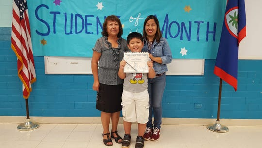 The Guahan Academy Charter School honored its March Student of the Month awardee on April 11. Pictured: Treyvan Yamaguishi. Pictured from left, back row: Teresita Cruz, Dean of High School Guahan Academy Charter School and Vilma Pascua.