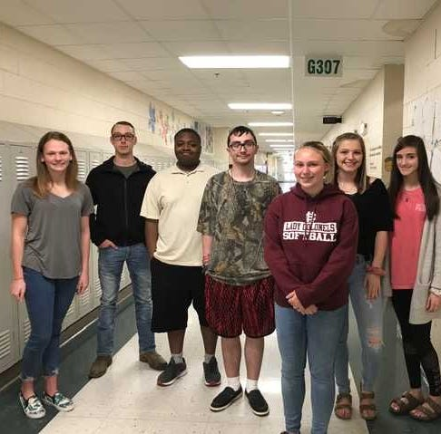 HCHS April 2019 students of the month