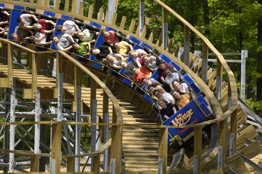 The Voyage is a wooden roller coaster at Holiday World & Splashin' Safari in Santa Claus, Ind.