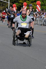 Jacob Lyerla in last year's Mini-Marathon.