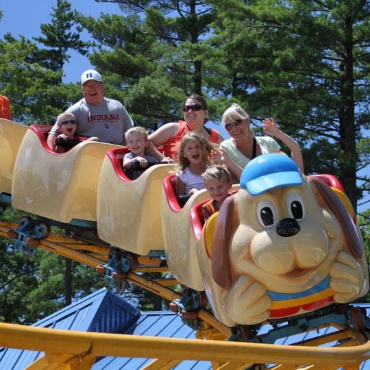 The Howler is a steel, family roller coaster at Holiday World & Splashin' Safari in Santa Claus, Ind.