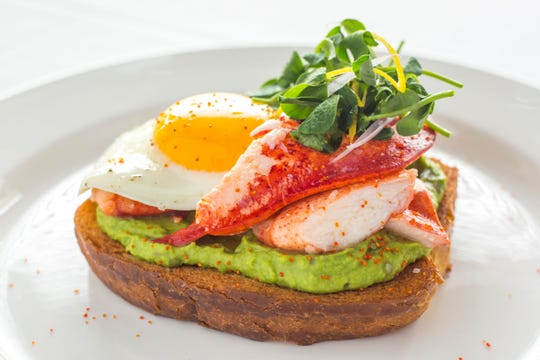 Lobster Toast is one of the many brunch options available on Mother's Day at Ocean Prime.