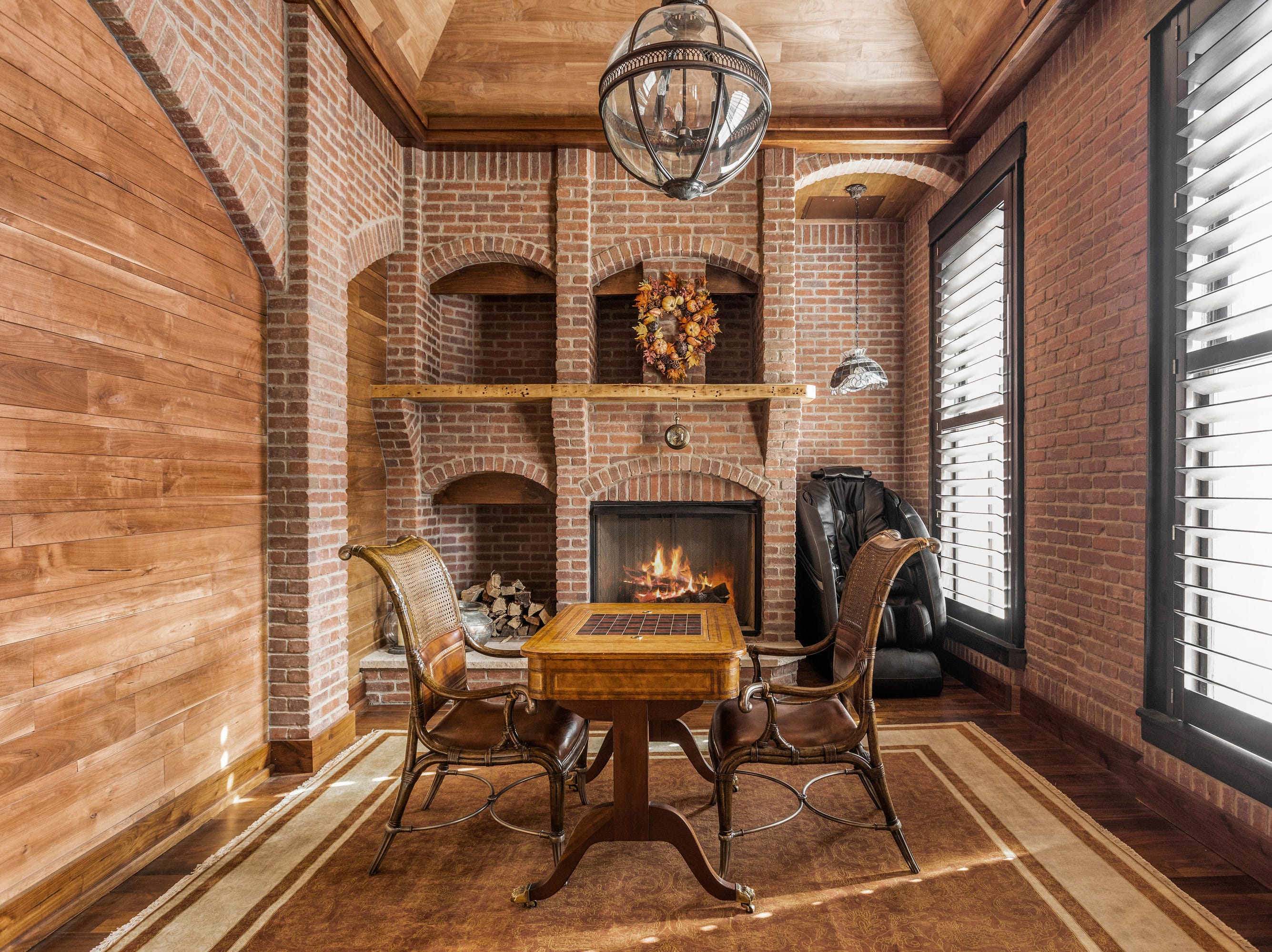 Where possible, the current owners went for a historic feel with exposed brick and wood.