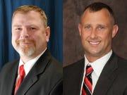Judges Andrew Adams, left and Brad Jacobs