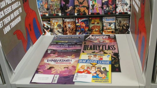"""These are some of the comics that will be available for Free Comic Book Day 2019. These include issues of """"Lumberjanes,"""" """"Doctor Who"""" and """"The Avengers."""""""