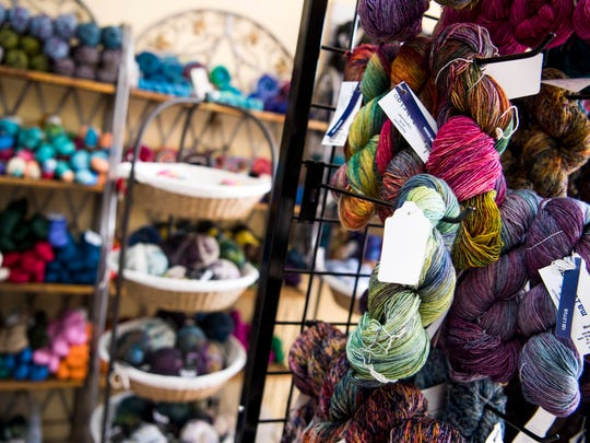 Yarn is displayed at The Yarn Haven on Cedar Bluff Road in Knoxville on Wednesday, May 1, 2019.