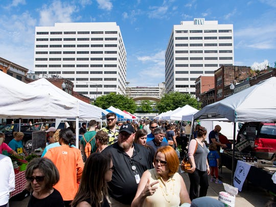 The Market Square Farmers Market had its opening day in downtown Knoxville on Wednesday, May 1, 2019.