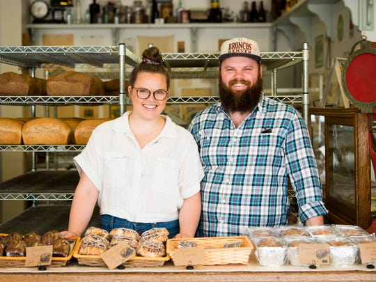 Siblings Chelsea Surrett Stovall and Evan Surrett, pictured on Wednesday, May 1, 2019, are the owners of Old Mill Bread Company on Cedar Bluff Road in Knoxville.