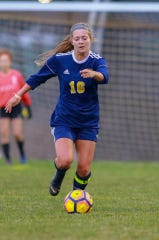 Lauren Way scored one of Hartland's two early goals in a 4-0 victory over Howell.