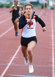 Pinckney's Jana Hummel won the 100-meter dash and anchored two winning relays in a tri-meet against Chelsea and Ypsilanti on Tuesday, April 30, 2019.