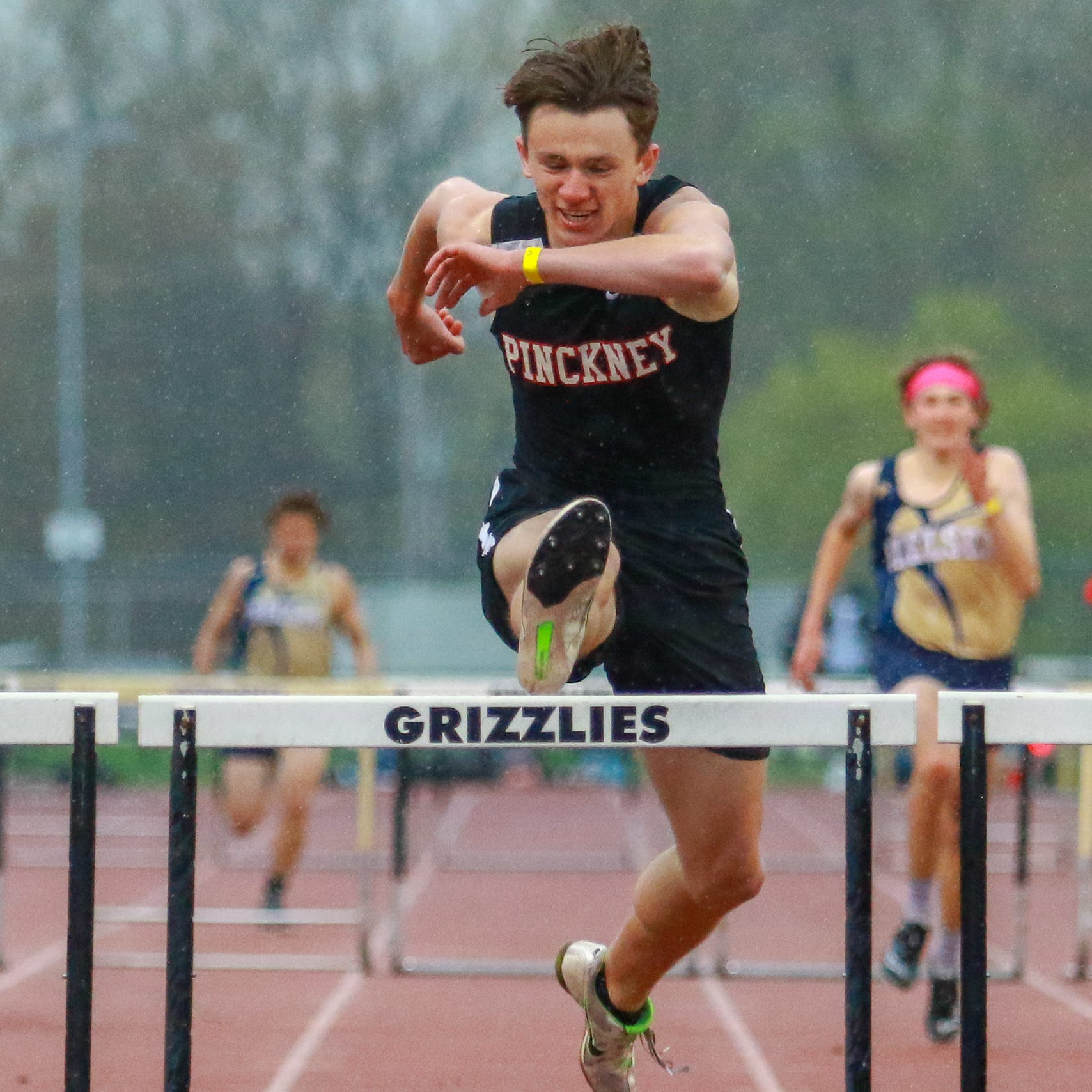 After two close misses, it's state track meet or bust for Pinckney hurdler Dylan Deck