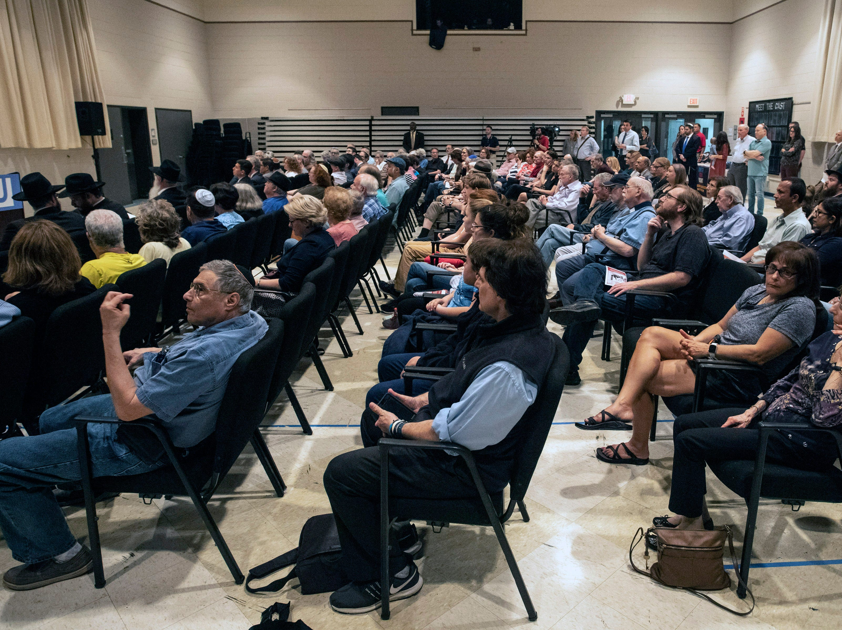 The Jewish Community Center hosted a Unite For Light service on Tuesday night to pray for the victims of the recent Chabad of Poway Synagogue shooting during Passover weekend. April 30, 2019
