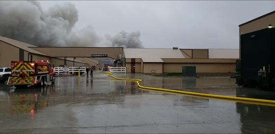 A massive fire broke out at the Herbruck's Poultry Ranch in Ionia Country April 30. No one was injured, but all the birds in one of the damaged buildings died.