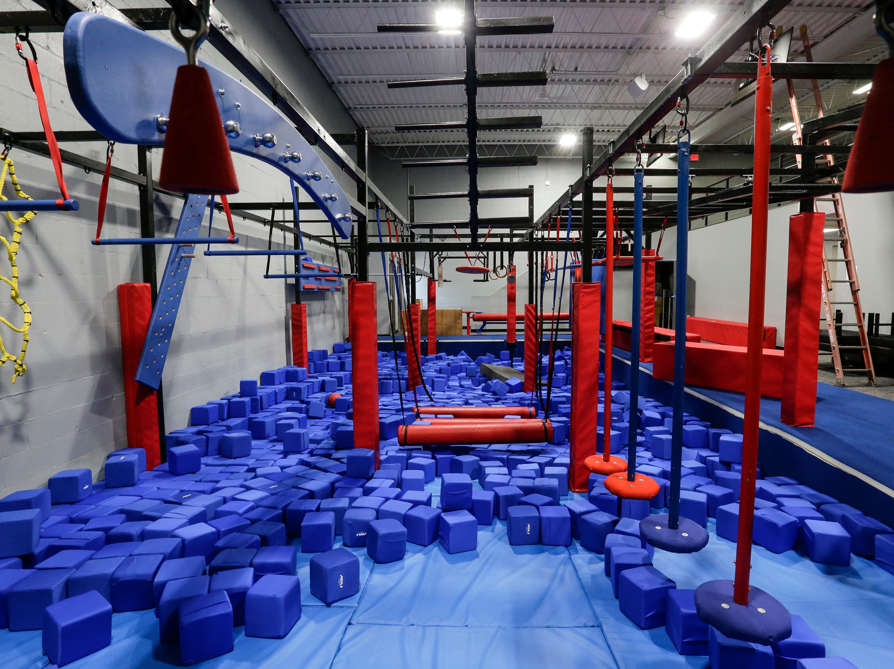 The ninja gym at Strand Adventures Wednesday, May 1, 2019, in Manitowoc, Wis. Joshua Clark/USA TODAY NETWORK-Wisconsin