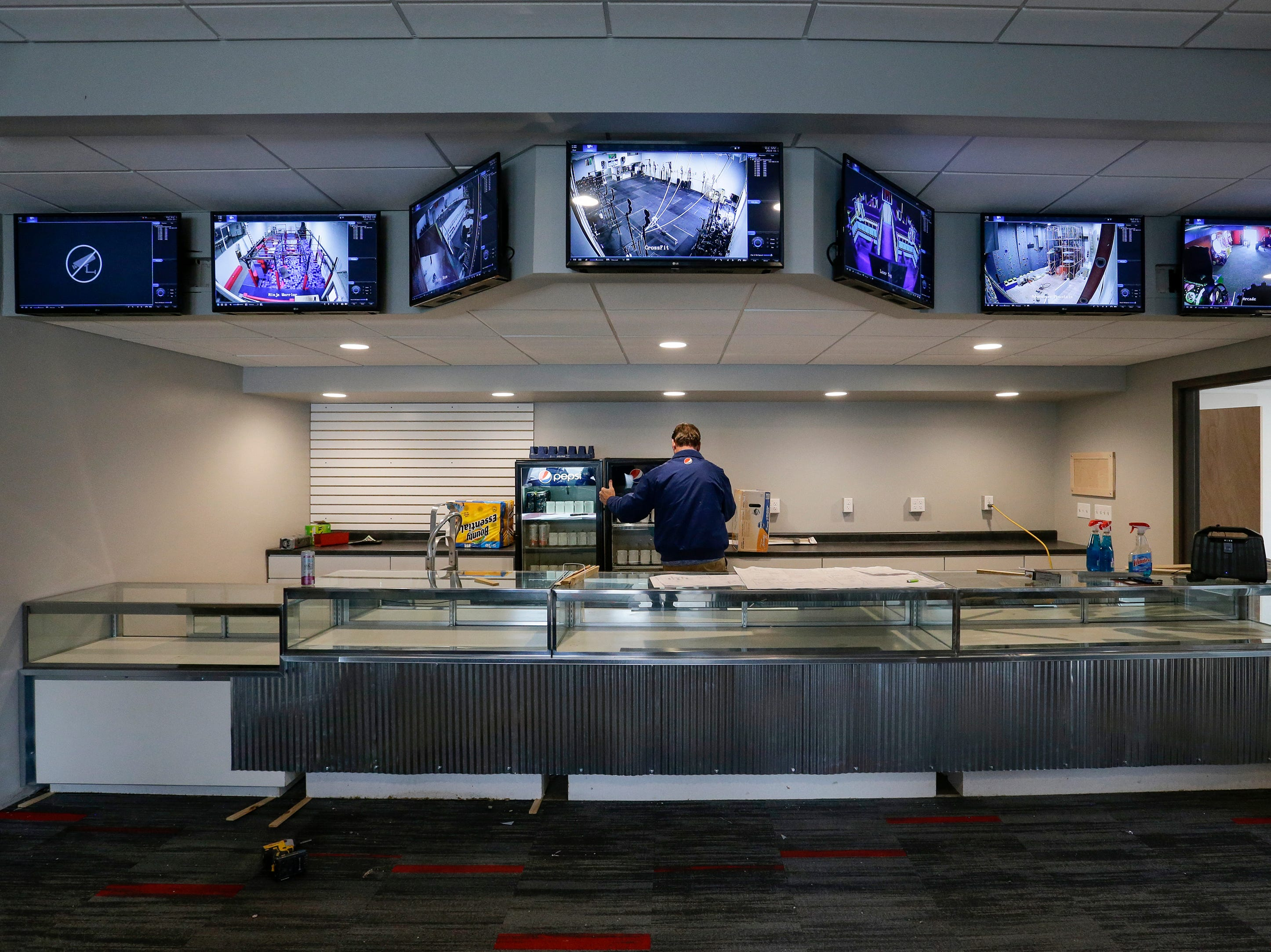 The lobby at Strand Adventures Wednesday, May 1, 2019, in Manitowoc, Wis. Joshua Clark/USA TODAY NETWORK-Wisconsin