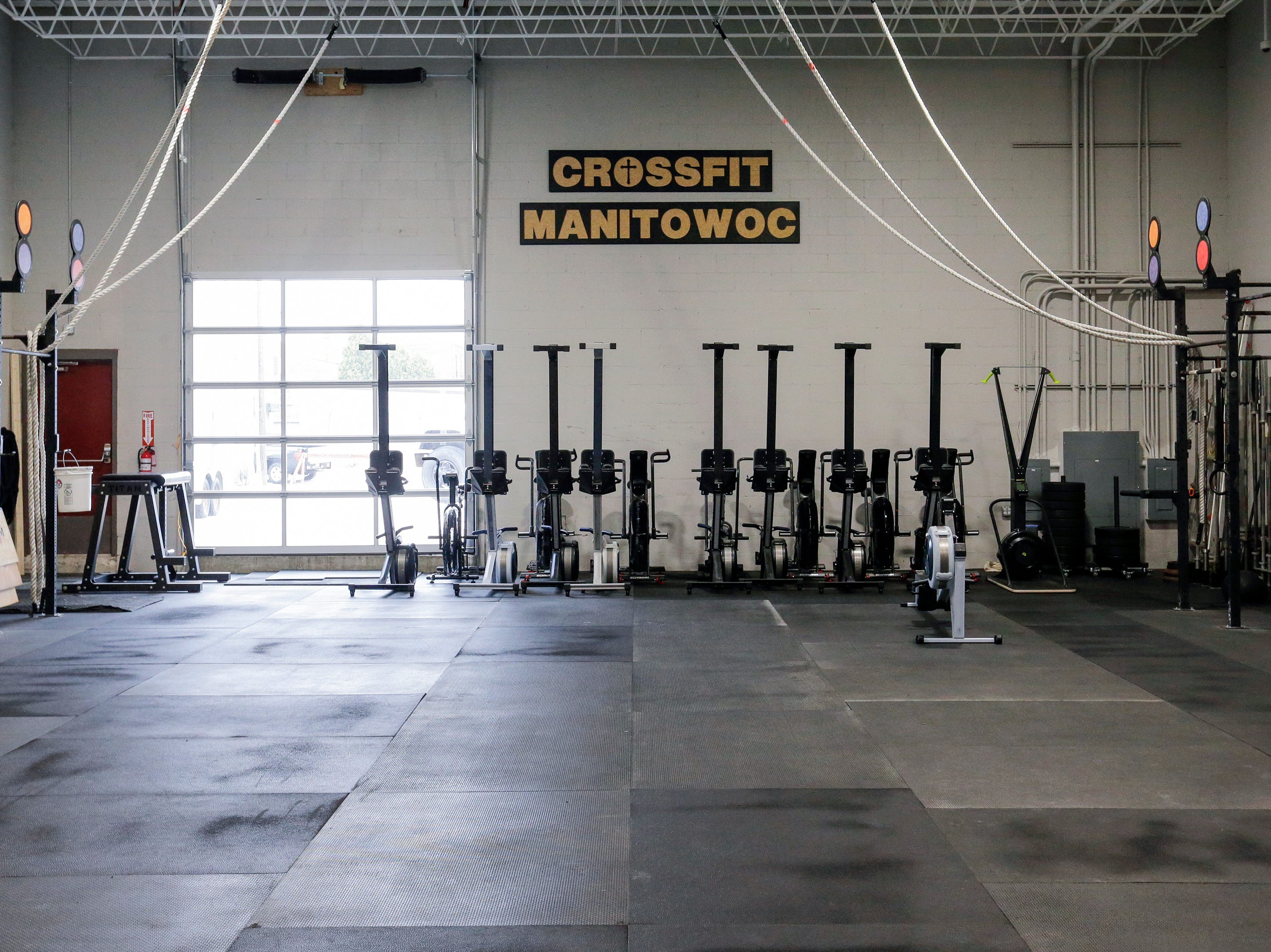 The Crossfit Manitowoc gym at Strand Adventures Wednesday, May 1, 2019, in Manitowoc, Wis. Joshua Clark/USA TODAY NETWORK-Wisconsin