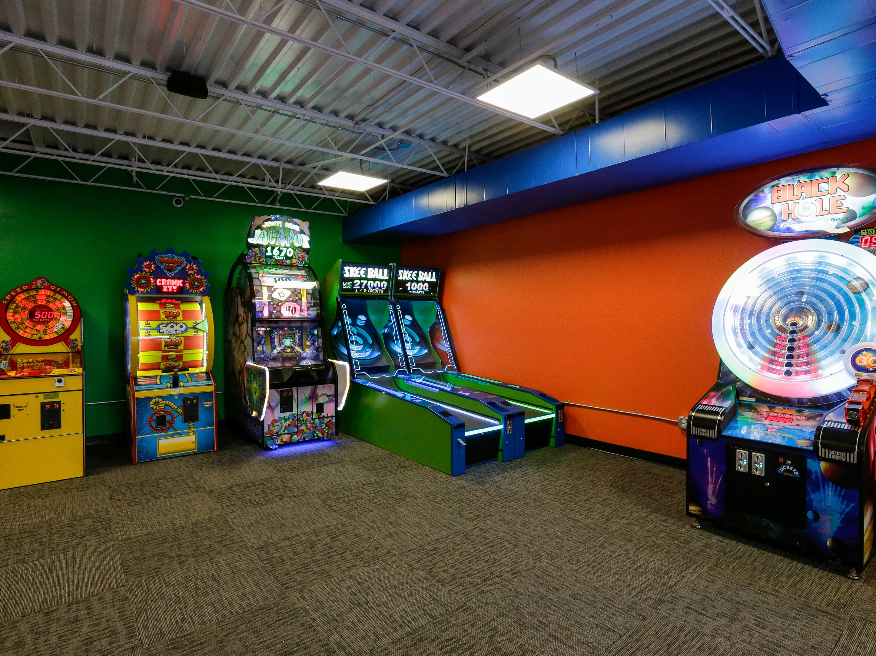 The arcade at Strand Adventures Wednesday, May 1, 2019, in Manitowoc, Wis. Joshua Clark/USA TODAY NETWORK-Wisconsin