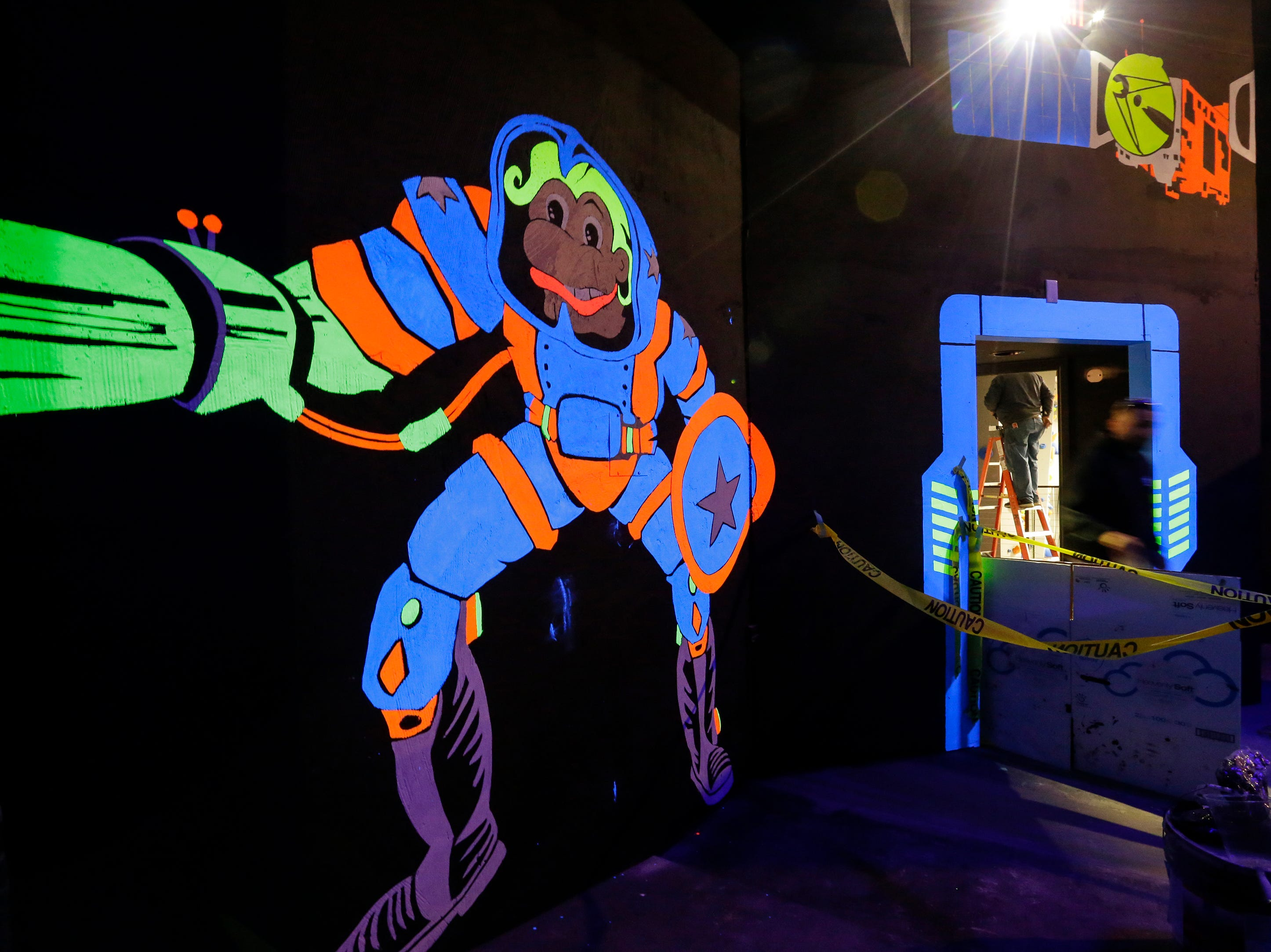 The laser tag room at Strand Adventures Wednesday, May 1, 2019, in Manitowoc, Wis. Joshua Clark/USA TODAY NETWORK-Wisconsin