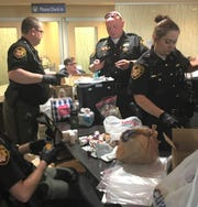 The Marion County Sheriff's Office reported 516 pounds of pills were collected during the Drug Take Back Day event April 27 at OhioHealth Marion.