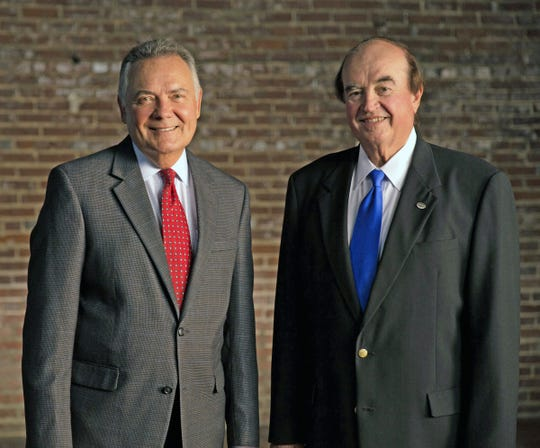 Harold Crye (left) and Dick Leike founded Crye-Leike, which was recently recognized among the largest real estate firms in the country.