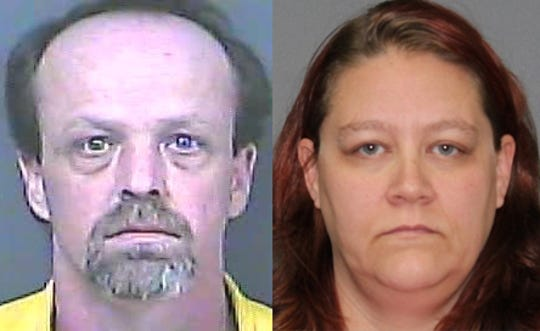Gerald, left, and Georgette Whitaker were arrested for three counts of child exploitation, according to Desoto County authorities.