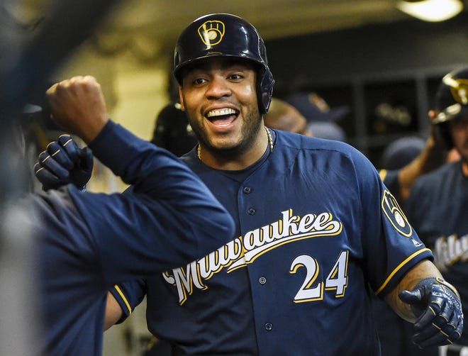 Jesus Aguilar, who struggled mightily early in the season, entered Friday night on a nine-game hitting streak and has hit .357 with three home runs and 14 runs batted in over his last 16 games.