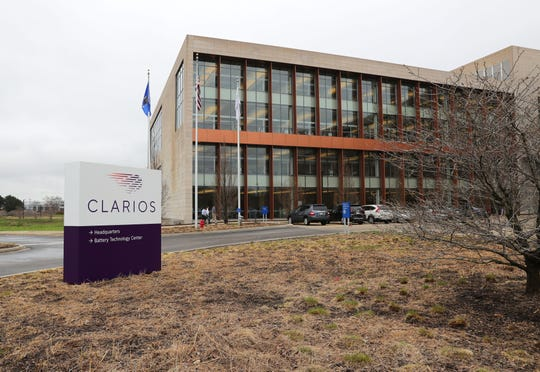 Clarios signs have gone up at Johnson Controls International plc in Glendale. The new company was created by Johnson Controls' sale of its automotive battery business for $13.2 billion.