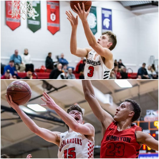 Tyler Ellingson (top) and Ryan Waddell (bottom left) recently announced their commitments to play basketball at UW-Milwaukee.
