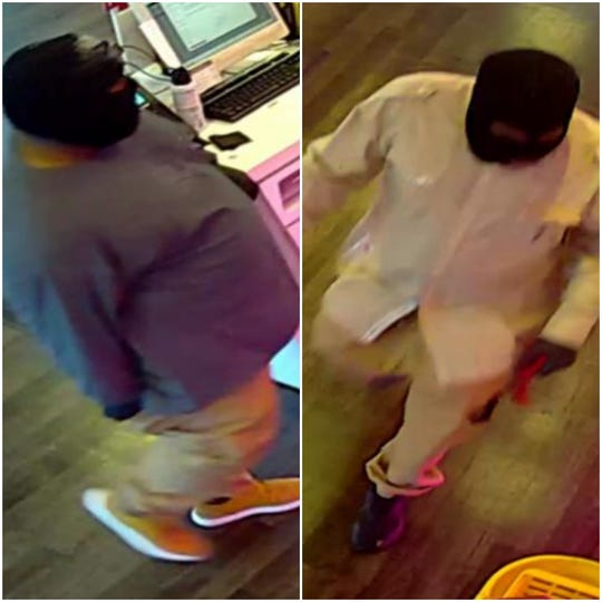 These two men are the suspects in the April 27 armed robbery of a T-Mobile store at 7001 W. Greenfield Ave. in West Allis.