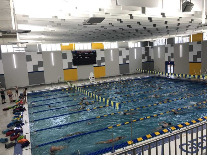 Pictured here is the pool at Germantown High School, which is used by its boys and girls swimming teams. Recently, Tim Damico, a former Germantown girls' assistant swimming and diving coach, was fired by the school. Damico said it was because of his political beliefs.