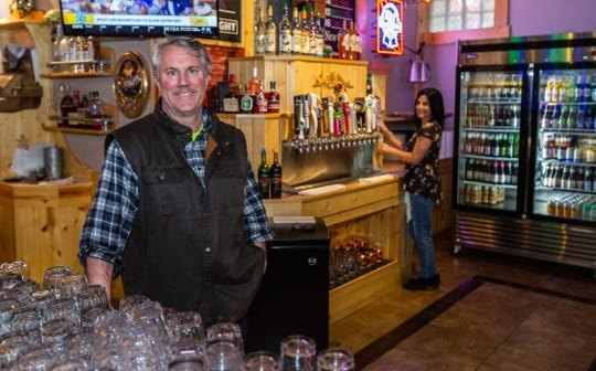 Mike Teipner, owner of The Alumni Club, greets customers at the popular tavern and eatery in Menomonee Falls on Tuesday, April 30, 2019.