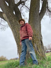 Mark Groose owns the farm in Sullivan where this elm tree has grown since long before I-94 was built in the 1960s.