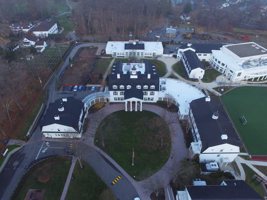 An aerial view of the Morristown-Beard School in Morris Township. April 25, 2016.