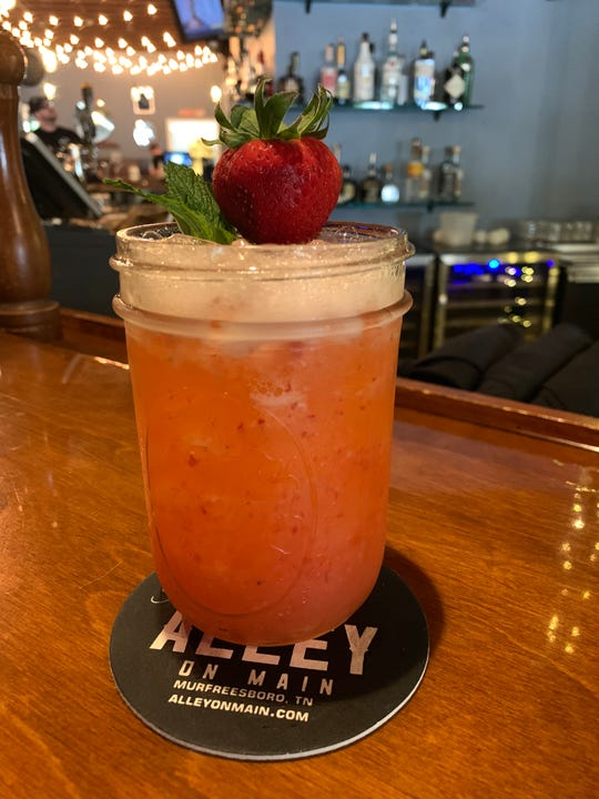 The strawberry margarita at The Alley on Main is made with fresh berries.