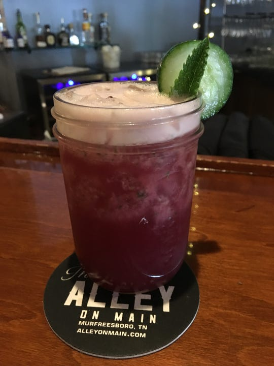 The Alley on Main's cucumber-pomegranate margarita is made from fresh juices.
