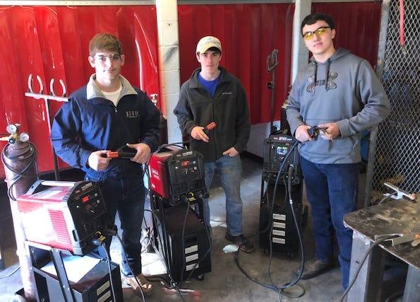 A welding class at Creek Wood.