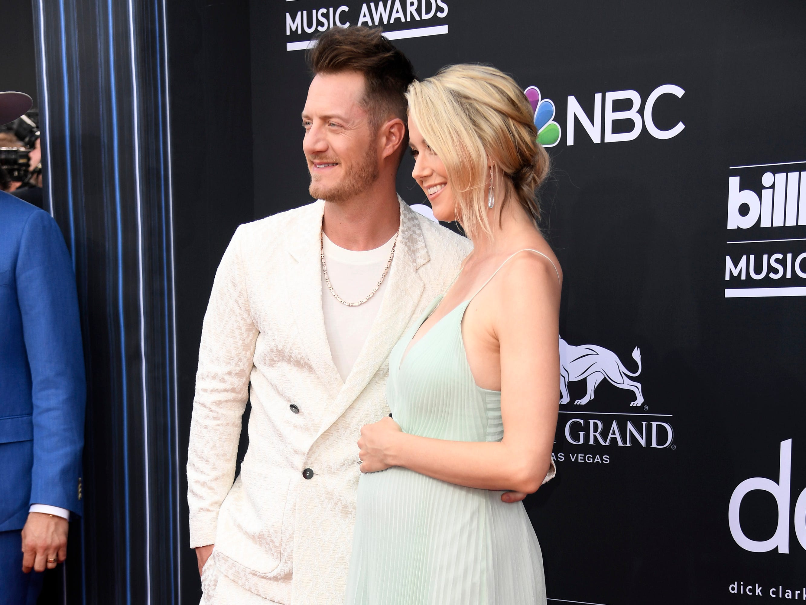 (L-R) Tyler Hubbard of Florida Georgia Line and Hayley Stommel Hubbard attend the 2019 Billboard Music Awards at MGM Grand Garden Arena on May 01, 2019 in Las Vegas, Nevada.