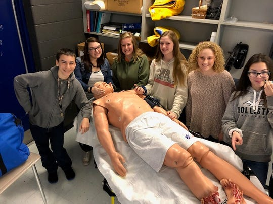 The Creek Wood EMS class as part of the CET program