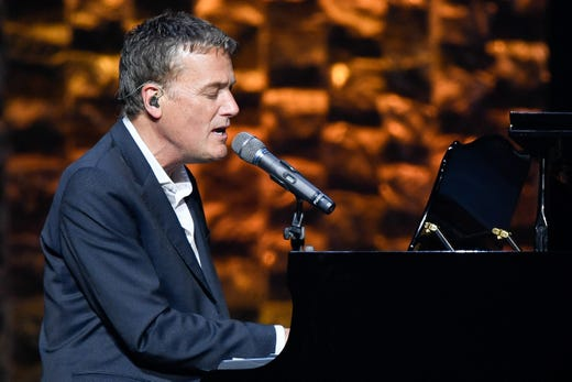 Michael W. Smith performs during the 35 Years of Friends: Celebrating the Music of Michael W. Smith concert at Bridgestone Arena in Nashville, Tenn., Tuesday, April 30, 2019.