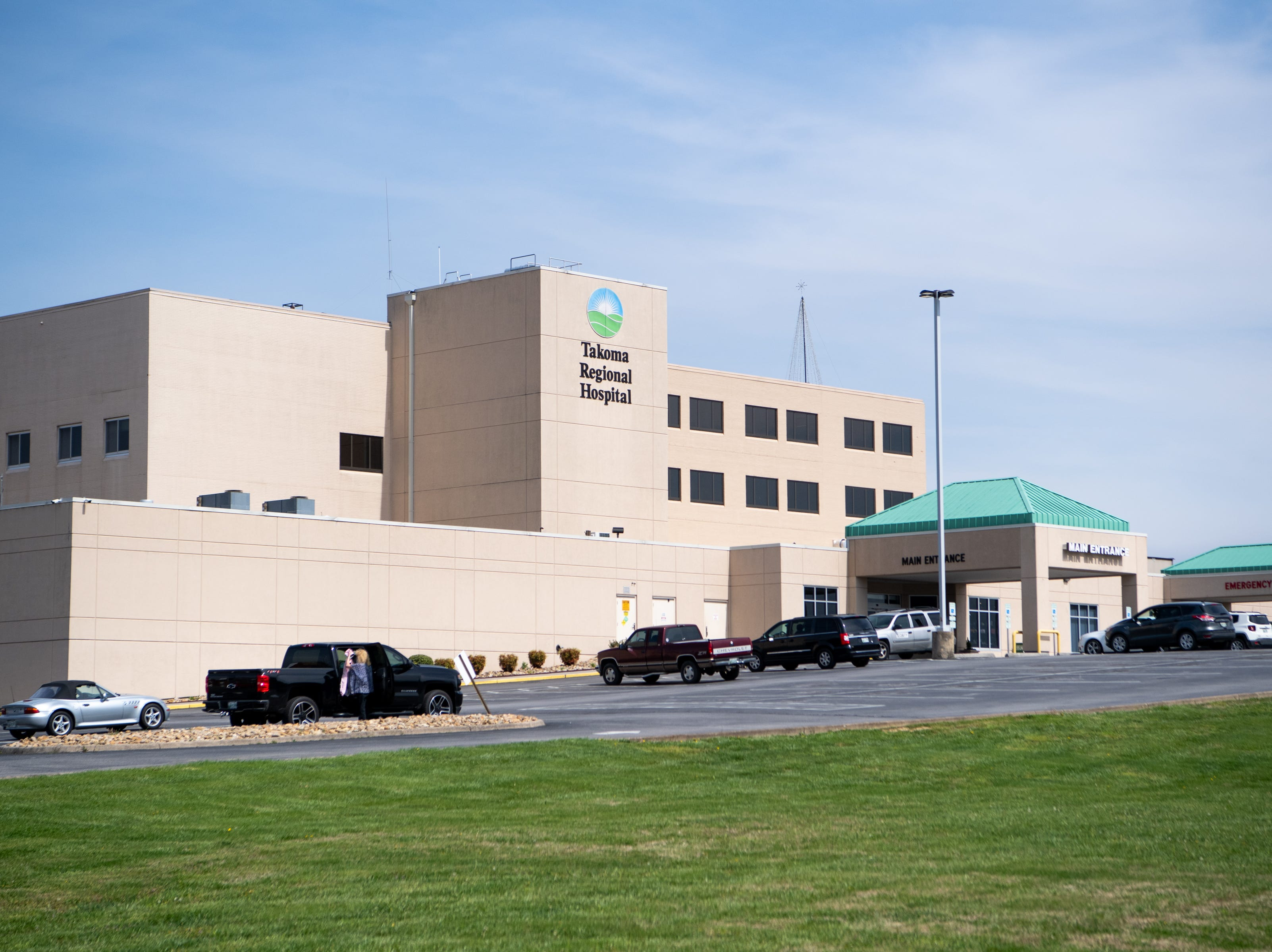 Takoma Regional Hospital, which became Greeneville Community Hospital West in April, is pictured Thursday, April 11, 2019, in Greeneville, Tenn.